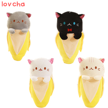 1pcs 18cm Creative Hidden in bananas miraculous kitten Banana cloth doll cat plush  big pillowsmall pendant bag Plush Animals