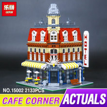 2016 New 213LEPIN 15002 Cafe Corner Model Building Kits Blocks Kid Funny Toy Gift Compatible 10182 children gift - BRICKS FUNNY HOUSE Store store