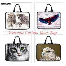 DIY Animal laptop bag Sleeve cat Neoprene 7 10 12 13 14 15 15.6 17 17.4 Inch Universal Tablet Bag Case Notebook Computer Cover