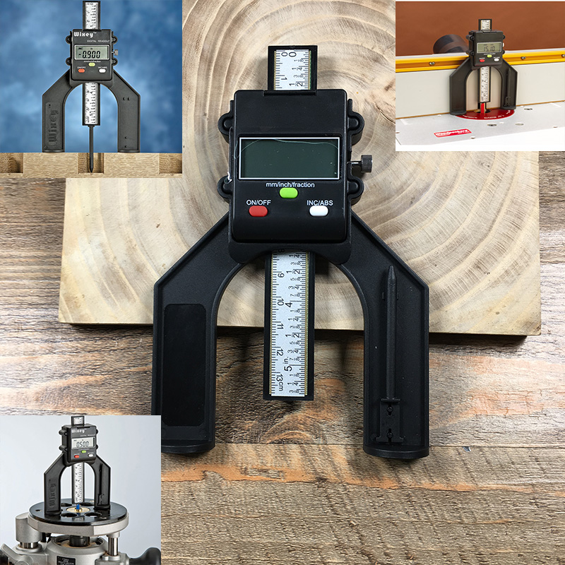 High-quality woodworking depth measuring tool Mini woodworking precision measuring instrument Measuring range 0-80MM<br>