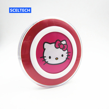 Hello Kitty Qi Wireless Charger Pad for Samsung Galaxy S7 S6 edge Note 5 Qi Mobile Cell Phone Smartphone Charge Charging Dock
