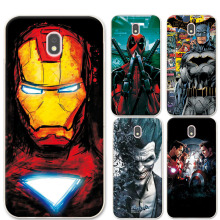For Samsung Galaxy J7 2017 Phone Cases Cover 5.5 inch Charming Marvel Avengers Coque For Samsung j7 2017 j7 Pro J730 EU Version(China)