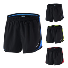 Arsuxeo Men's 2 in 1 Running Shorts Quick Dry Marathon Running Shorts Training Fitness Running Cycling Pockets Sports Shorts(China)