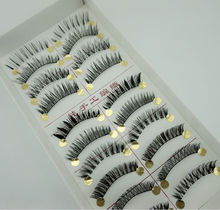 10 Pair Different Styles From Top Fake Eyelashes Mixed Natural Thick False Eyelashes Slim Cross Section Fake Eyelashes(China)