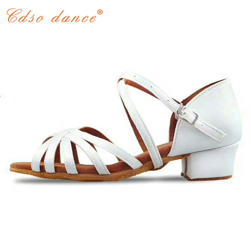 Cdso dance  Children white/black/beige/bronze/ latin/modern/Kids Sneakers dance shoes Girls Shoes Ballroom Salsa Shoes(China)