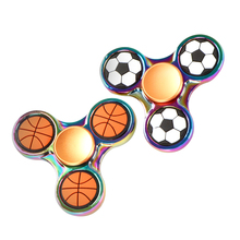 Buy Basketball Football Rainbow EDC Tri Spiner Toys Hand Spinner Metal Fidget Spinner ADHD Adult Stress Relief Toys Action for $3.71 in AliExpress store