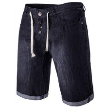 Verão calças de Brim Ocasionais dos homens Com Cordão Calças Na Altura Do  Joelho(China 7e68980d104b2