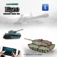 Original H500 1/36 German Leopard II A6 Infrared Shooting Bluetooth Gravity Induction RC Battle Tank Hot Sale Tank BoyToy