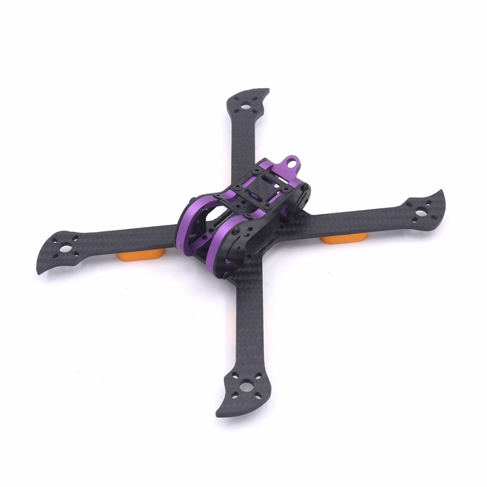 Pichi 5 Inch 210mm 210 pure carbon fiber frame kit with 4mm arm and aluminum parts for FPV RC cross racing drone quadcopter<br>