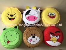 Cartoon Style Plush Villus Inflatable Stools Pouf Chair Seat Bedroom Lovely Stool Ottomans(China)