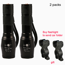 3800 Lumens 5-modes bicycle light Cree XML-T6 LED Bike Lights Buy flashlight to send bike clips for 18650 or 3AAA battery(China)