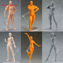 SHINEHENG Figma Archetype He She PVC Action Figure toy Human Body Joints Male Female Nude Movable Dolls Anime Models