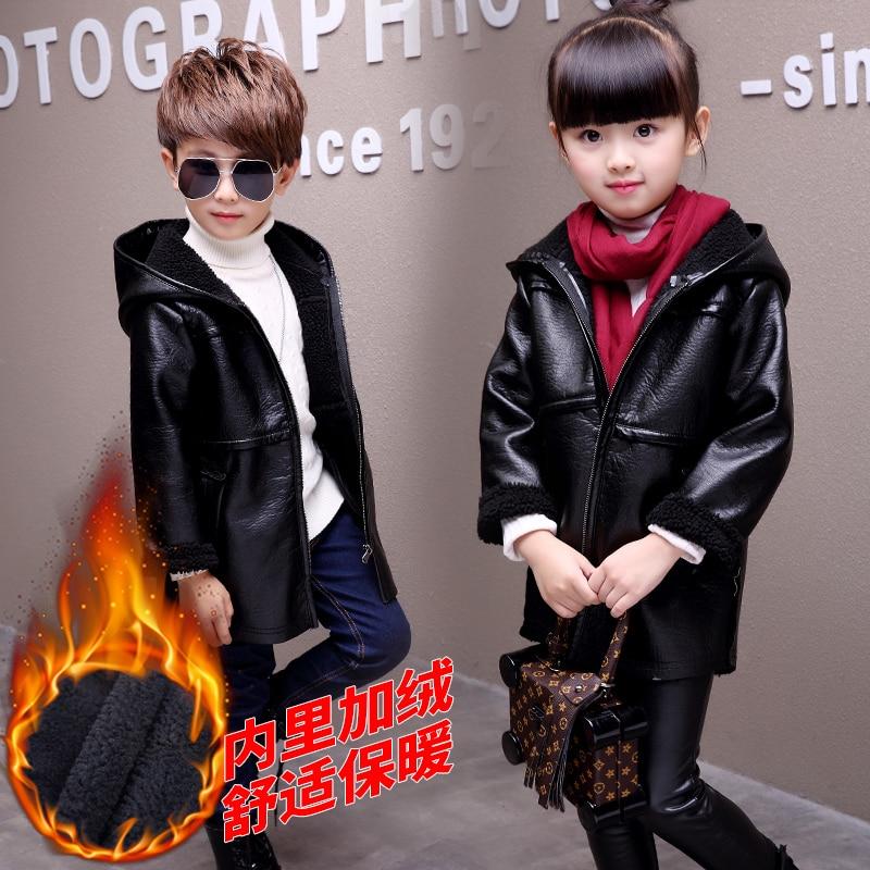 Berryinpaw New Spring Autumn Winter Boys Jackets 2017 Girls Outwear Fashion Children PU Leather Kids Jackets Girls Coats Jackets<br>