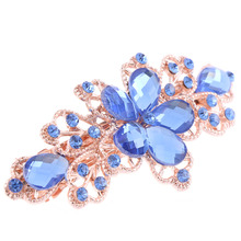 1 PCS Women Girls Fashion Crystal Flower Rhinestone Hair Pins Girls' Hair Band Accessories 5 Colors Available