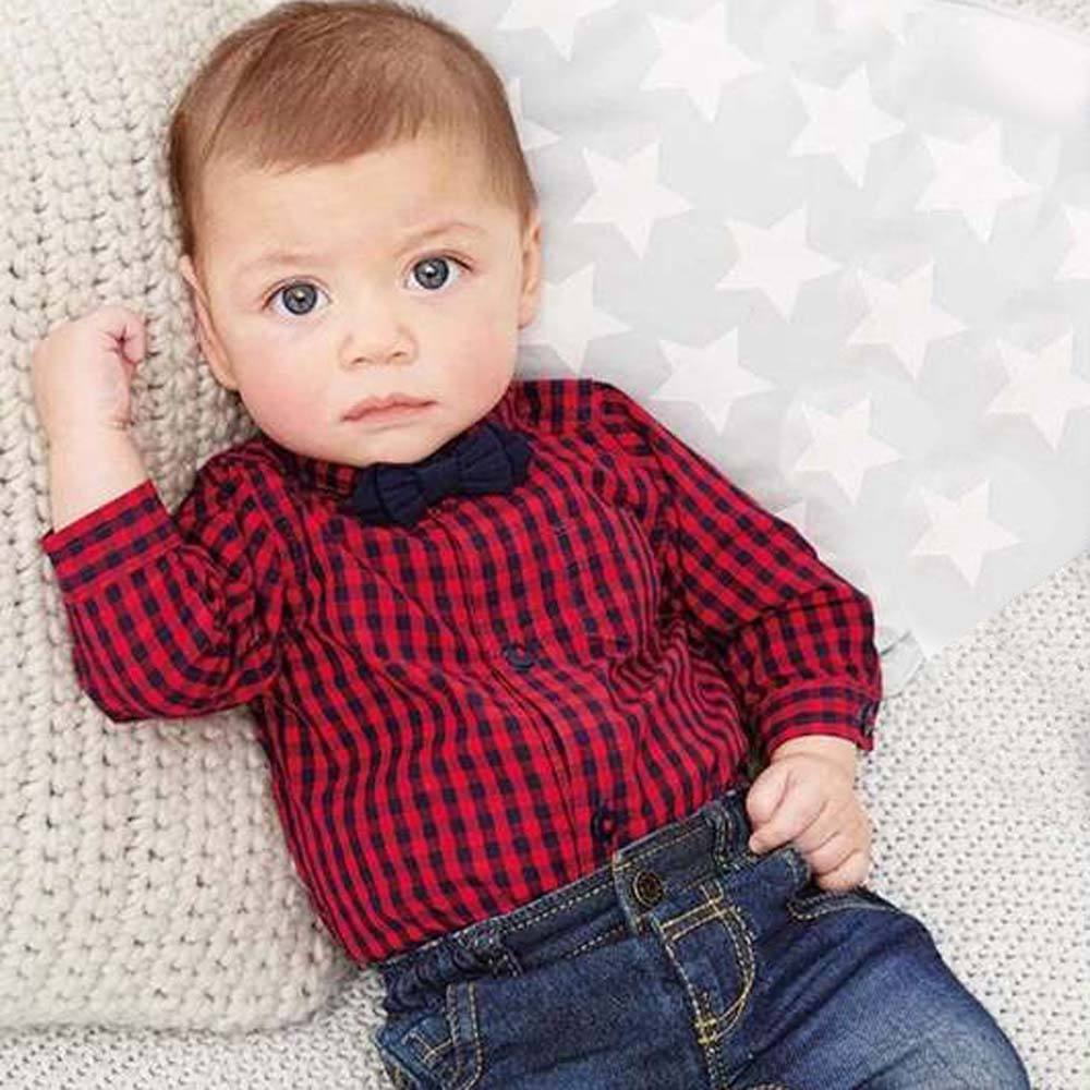 Newborn Baby Boys Clothing Sets Blouse+Jeans Pants 2 pieces Infant Clothes Casual Outfits Clothing Suit for Spring Summer DA748<br><br>Aliexpress