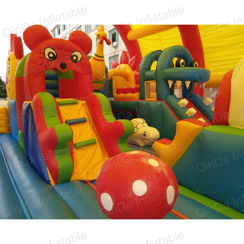 inflatable bouncer slide fun city castle(26)