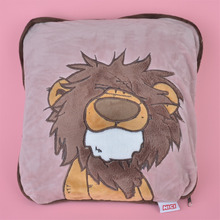 2 in 1 Multi-functio Forest Lion Plush Cushion, Kids Child Plush Blanket Pillow Gift Free Shipping
