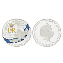 EZLIFE Hot 2016 United Kingdom Queen Silver coin/copy coins euro/dollar/commemorative coin values BTC011(China)