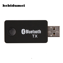 kebidumei Hot Wireless Bluetooth Transmitter Stereo Music Stream Transmitter Audio Adapter for TV DVD PC CD Player MP3/MP4(China)
