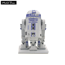 Adult 3D Metal Puzzle Educational Children Games 3D Metal Model DIY Assembled Teaser Puzzles Colorized robot R2D2