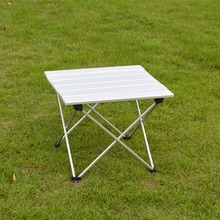 Portable Camping Table Outdoor Golden Aluminium Alloy Foldable Folding Picnic Table Ultralight Mesa Plegable For Hiking Picnic(China)