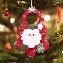 Cute New Creative Snowman Santa Claus Elk Tree Showcase Shop House Door Pendant Christmas Decoration Kids Novelty Toys Gifts(China)