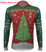 Ugly Christmas ropa de ciclismo de invierno thermal Winter Cycling Jersey Fleece bicycle Clothes