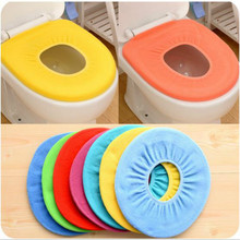 Hot sale in stock UK Washable Soft WC Toilet Closestool Cloth Seat Lid Warm Cover Pads Bathroom