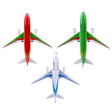 1pc Alloy Flashing LED Light Air Bus Model Kids Toy Children Airliner Passenger Plane Music Simulation Educational Toy Xmas Gift