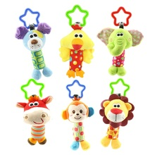 Rattles Kids Toys Chidren's Baby Toys stuffed animal Monkey Plush Toys Baby Teether Hanging Strollers Sound Toys Christmas Gift(China)
