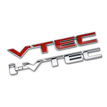 3D VTEC Full Metal Zinc Alloy Car Styling Refit Emblem Fender Tail Body Badge Sticker for Honda Civic Accord Odyssey Spirior CRV(China)