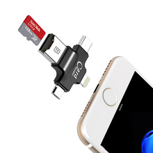 4 in 1 sandisk 32GB 64GB Pendrive OTG USB Flash Drive for iPhone 5/5s/5c/6/6 Plus/7/ipad OTG Card reader Pen Drive 16GB(China)