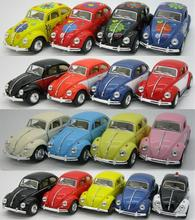 Candice guo alloy car model Volkswagen beetle 1967 Classical vehicle motor pull back collection Christmas present birthday 1pc