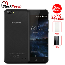 Blackview A7 Dual Rear Cameras Mobile Phone 5.0 inch HD MT6580A Quad Core Android 7.0 1GB RAM 8GB ROM 5MP Cam 3G Smartphone