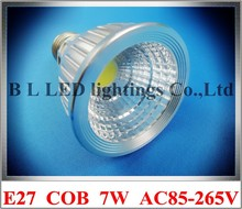 spotlight COB LED spot light lamp 7W E27 LED par light parlight constant current driver inside AC 85V-265V input aluminum CE