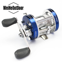 Pesca Full Metal Fishing Reel 2+1BB CL-50 295g Carp Fishing Bait casting Reel Boat Reel Double Handle Cast Drum Wheel(China)