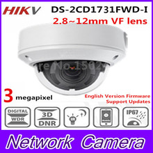 2017 HiK New Released 4MP CMOS Vari-Focal Network Dome Camera DS-2CD1731FWD-I Replace DS-2CD2735F-I IP Camera Lens 2.8~12mm H264