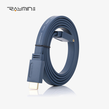 Raymin HDMI Cable 1M2M5M8M20M HDMI to HDMI Gold Plated Flat line HDMI 2.0 Cable 1080P 3D for PC PS3 Projector HD LCD TV Computer