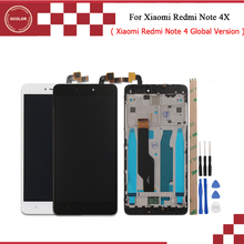 For Xiaomi Redmi Note 4X LCD Display and Touch Screen With Frame Front LCD Housing Middle Faceplate Frame Bezel Replacement Part