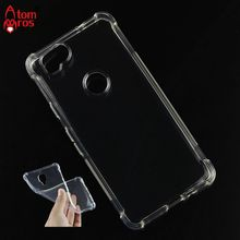 Soft TPU Silicone Rubber Transparent Shockproof Case For Google Pixel 2 Cover Phone Cases Protective Skin Shell Fundas