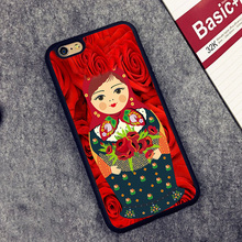 FlowerLady Russian dolls Printed Soft TPU Skin Cell Phone Cases For iPhone 6 6S Plus 7 7 Plus 5 5S 5C SE 4 4S Back Cover Shell