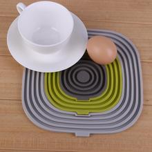 3pcs Set High Temperature Insulated Pad Mats Coffee Tea Drink Cup Mat Silicone Pad Coasters for Home Table Decor Colorful(China)