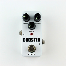 KOKKO FBS-2 Mini Overdrive Guitar Effect Pedal Guitarra Overdrive Booster High-Power Tube Guitar Two Segment EQ Effect Device
