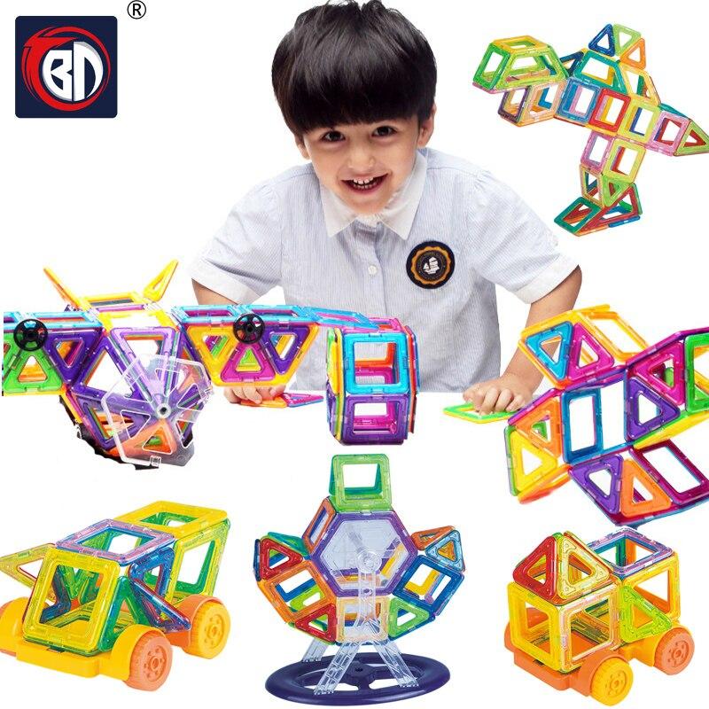 BD Magnetic Blocks 108pcs Mini Magnetic Designer Blocks 3D Model Plastic Educational Magnetic Blocks Toys For Children<br>