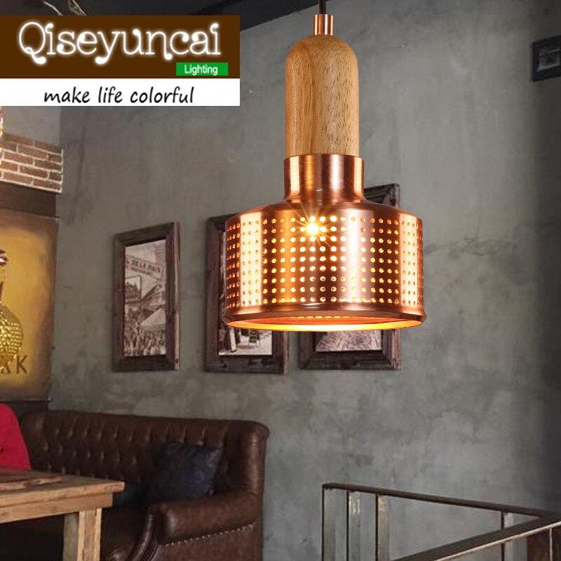 American country Vintage industrial iron single head small pendant lights restaurant bar bar creative Loft staircase Lighting<br>