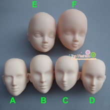 5pieces Soft Plastic Open-Eye Practice Makeup Doll Head DIY Heads For Make Up practise