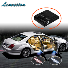 2pcs Car Door Welcome Light Laser Projector LED For Lada Citroen c5 BMW X5 E53 Ford Fiesta Toyota Rav4 Honda Civic Accessories