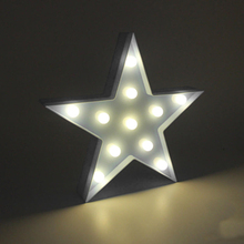 3D Marquee Stars Lamp With 11 LED Battery Operated White Night Light - L057 New hot(China)
