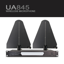 Fit Frequency 550-950MHz Four Channel Antenna Distributor UA845 Microhone Splitter Collector for Wireless Microphone system