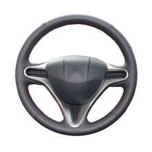 Artificial Leather car steering wheel braid for Honda Civic Old Civic 2006-2011/Custom made Steering cover